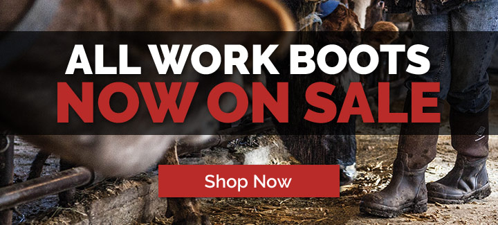 All Work Boots Now On Sale!