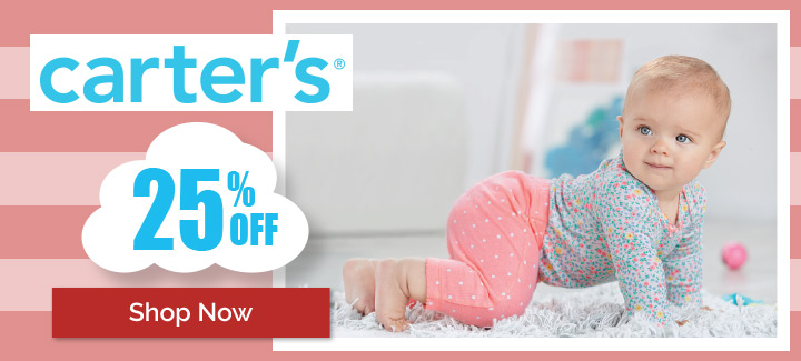 Carter's infant, toddler and children's apparel on sale!