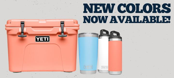 New YETI® Colors Available!