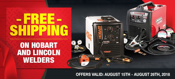 Free Shipping on Hobart and Lincoln Welders