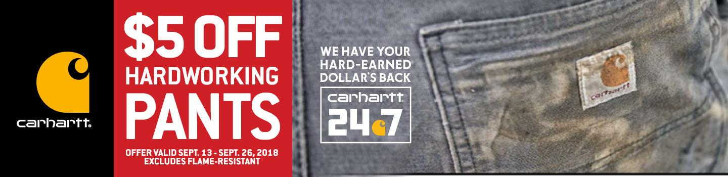 $5 Off Carhartt Pants