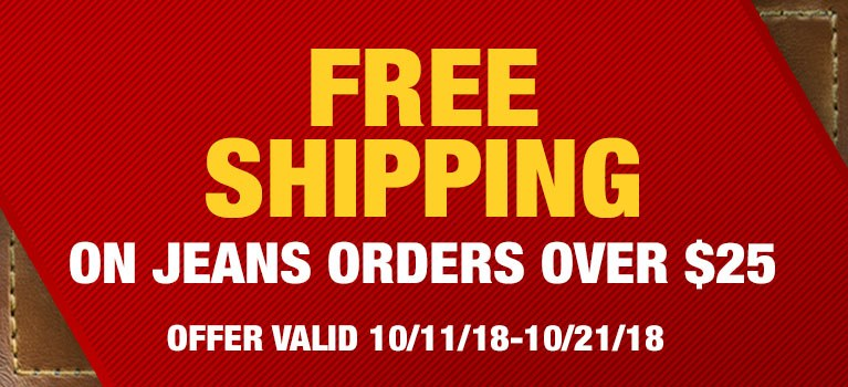 Free Shipping on Jeans Orders Over $25
