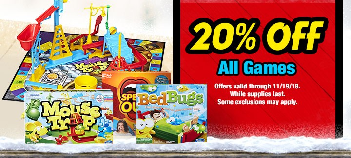 20% off All Games