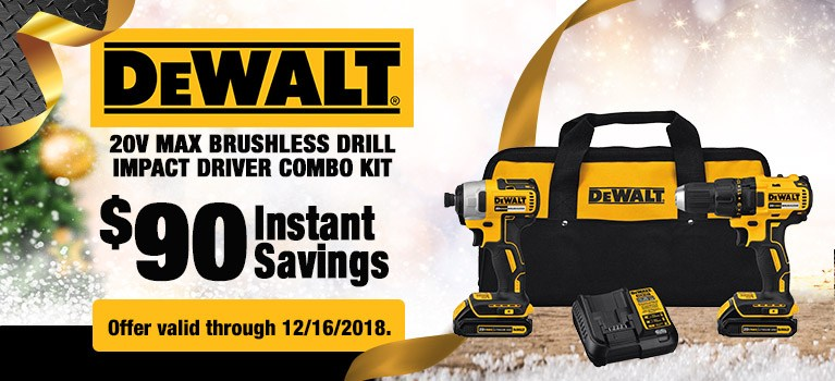 DEWALT 20V MAX Brushless Drill Impact Driver Combo Kit