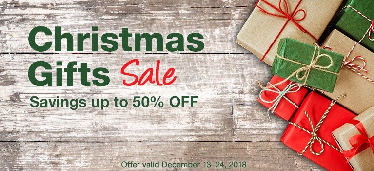 Christmas Gifts Sale—Savings up to 50% OFF