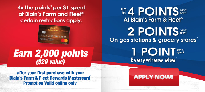 Blain's Farm & Fleet Rewards Mastercard