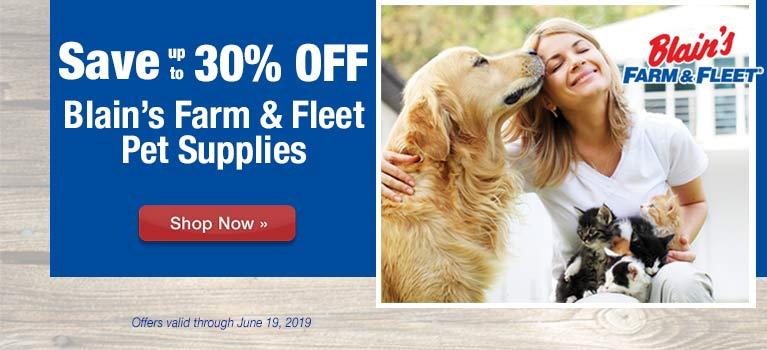 4be10e567 ... Save up to 30% OFF Blain's Farm & Fleet Pet Supplies ...