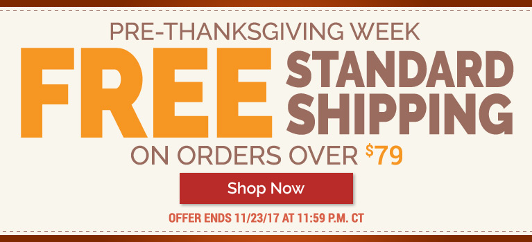 Free Standard Shipping On Orders Over $79