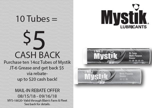 Mystik JT-6 Grease $5 Mail In Rebate