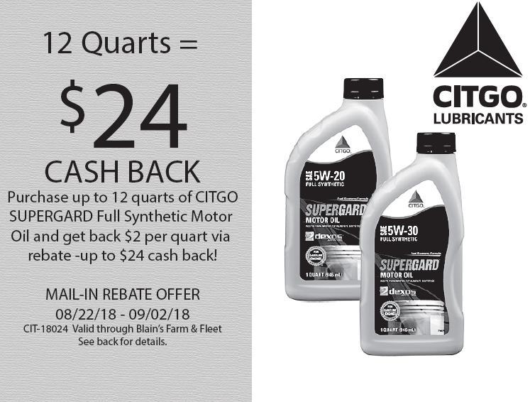 Citgo SuperGard $24 Cash Back Mail In Rebate