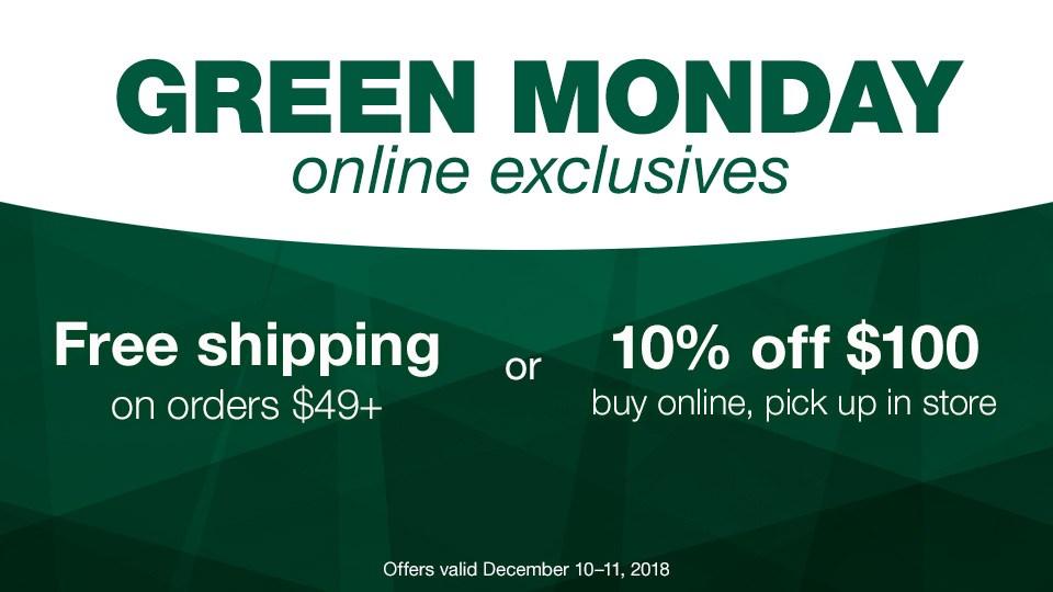Blain's Farm & Fleet Green Monday Sale!